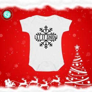 Let It Snow Christmas Onesie